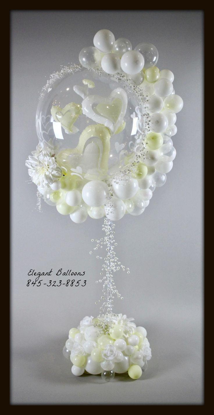 Wedding love Centerpiece hearts bubble by Elegant Balloons