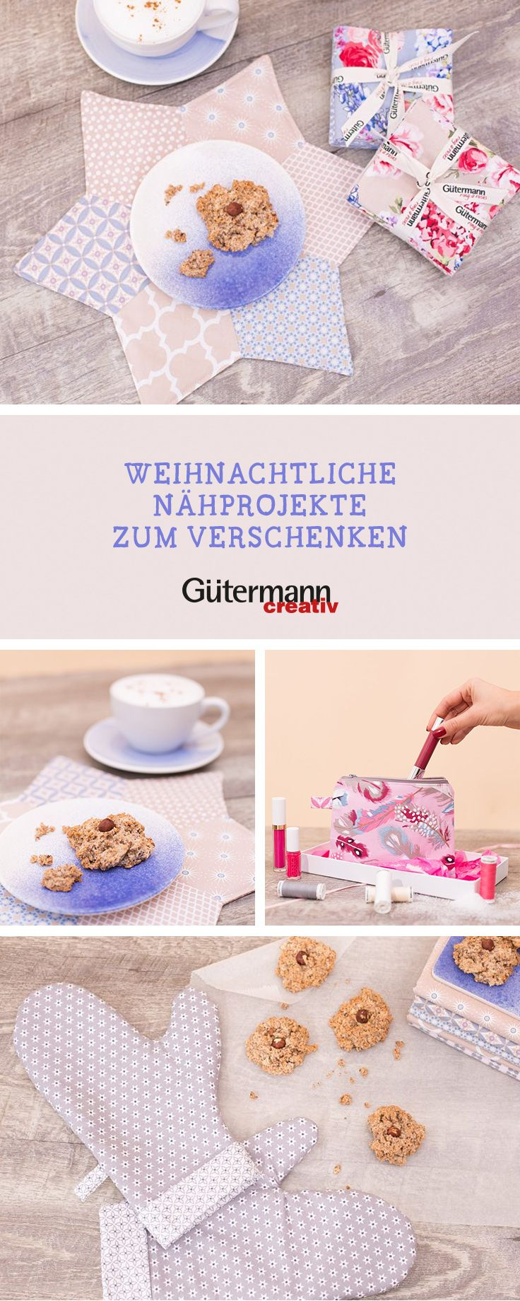 Kostenlose Nähanleitungen von unserem Partner Gütermann: Weihnachtsgeschenke selbermachen / diy sewing projects for christmas via DaWanda.com