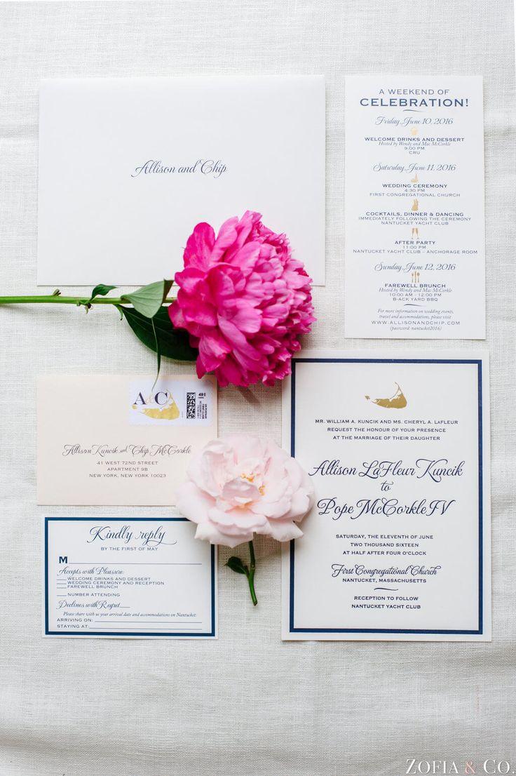 deer hunter wedding invitations%0A Nantucket Wedding Invitations  Navy   Gold   Blush