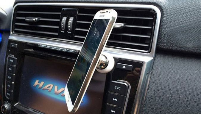 Buy Magnetic Universal Smartphone Car Mount for just £4.99 Keep your phone in safe view with the Magnetic Universal Smartphone Car Mount      The secure mount can be attached to any vehicle dashboard      Mount can be adjusted to accommodate an array of viewing angles      Simply attach mount onto desired spot and stick on phone      Magnetic phone socket and ball mount feature foam adhesive...