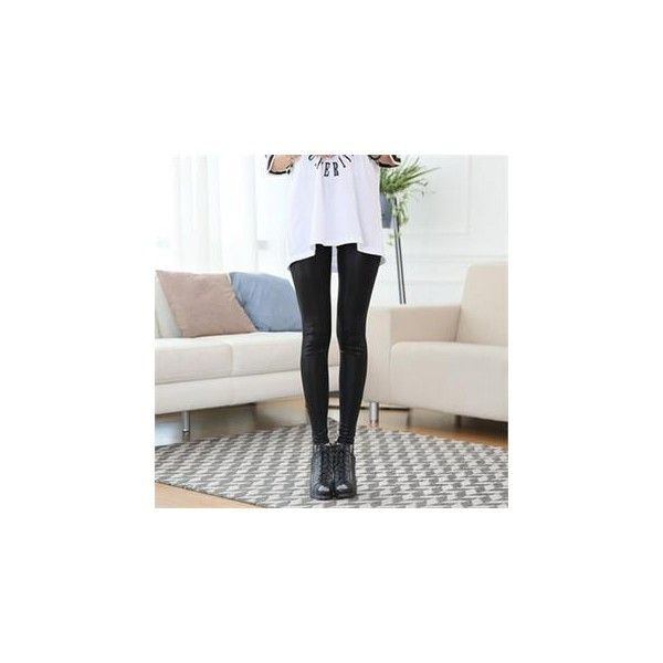 Drawstring-Waist Glossy Leggings ($25) ❤ liked on Polyvore featuring pants, leggings, women, wet look leggings, wetlook leggings, wet look pants, shiny pants and drawstring waist pants