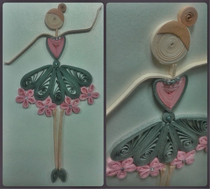 Quilled birthday dancer, beautiful and delicate. Love, Alina Papercrafted ♡