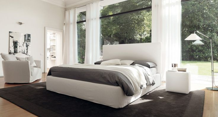 BLO 118 - Modern and refined geometry for the night. Bed the head important cm.118 height, able to give the night, modern and refined geometry.