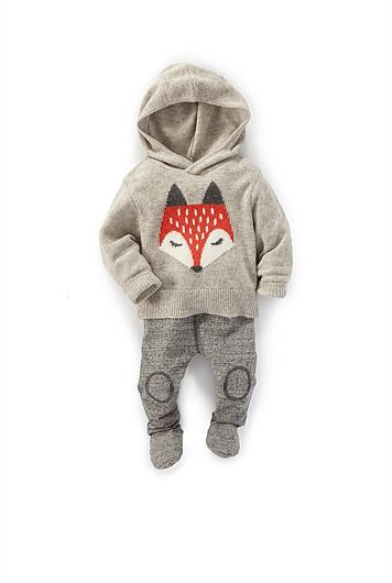 Fox Knit Hoodie