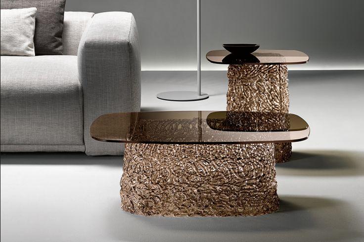 GlazenDesignTafel.nl | FIAM glazen salontafel Macramé | interior design | glass table | vidre glastoepassingen | Leiden | glass table |