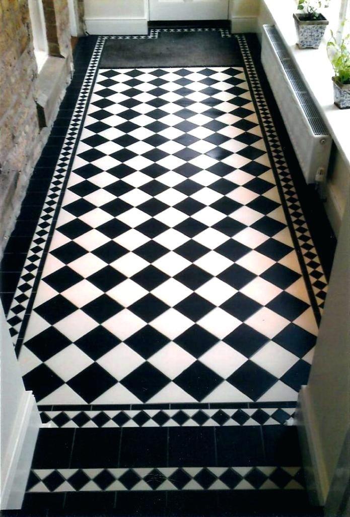 Checkerboard Slate Patio Google Search White Tile Floor