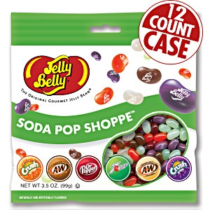 Jelly Belly Soda Pop Shoppe jelly beans in 3.5 oz bags. Real soda flavor. Soda
