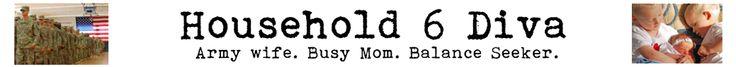 "Household 6 Diva ""My name is Ann Marie.  I am an Army Wife, Busy Mom, Balance Seeker, Haphazard Cook, Wannabe Photographer. """
