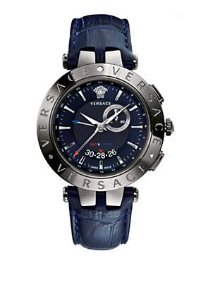 V-Race GMT Alarm Blau