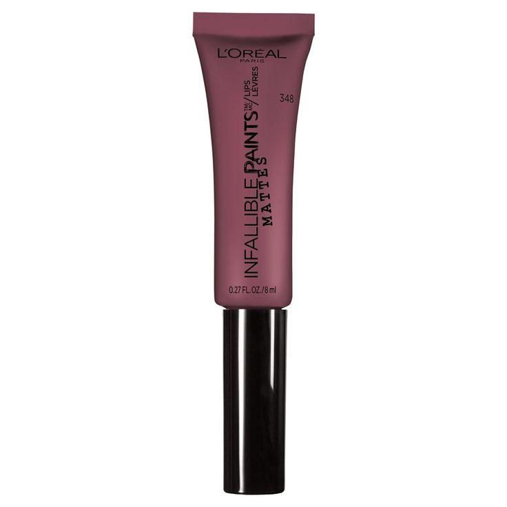 L'Oréal Paris Infallible Matte Lip Paints 348 Velvet Pout - 0.27oz