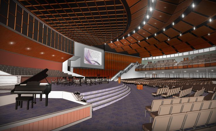 We provided an auditorium concept for this contemporary for Balcony concept