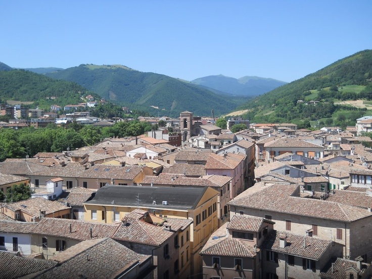 View of the historical center of Fabriano