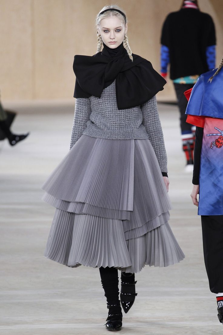 Textures, Pleats Marc by Marc Jacobs A/W 14/15 #NYFW