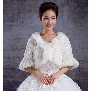 新作 花嫁 結婚式 披露宴 二次会 手作リ ウェディングドレス 秋冬 暖かい肩掛け シヨール ストール ケープ ブライダル用