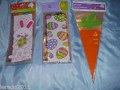 Best 25 cellophane gift bags ideas on pinterest cellophane bags pack of 20 easter cellophane gift bags sweets easter egg hunt rabbits negle Images