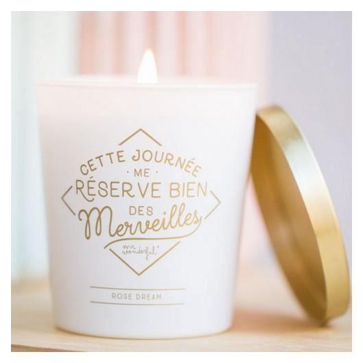 BOUGIE DÉCORATIVE Bougie parfumée Merveilles rose