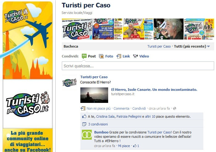 #Turistipercaso shared our video on there social network accounts. Tnx!