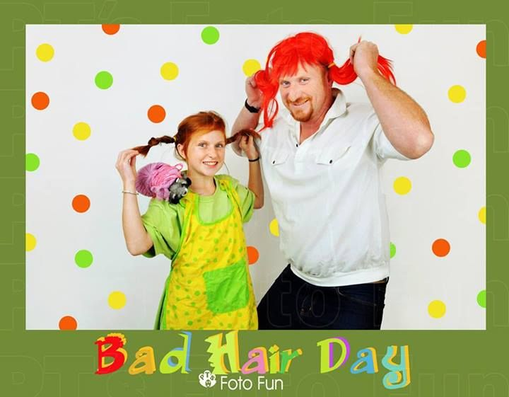 Bad Hair Day, dad and daughter, Pipi Long Stockings