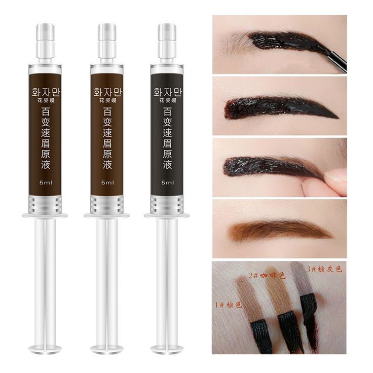 Henna Tattoo Eyebrows: Branded Make Up Eye Brows Tattoo Gel Long Lasting Brown