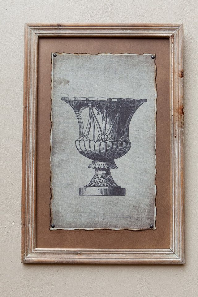 Natural Framed Print Pot II