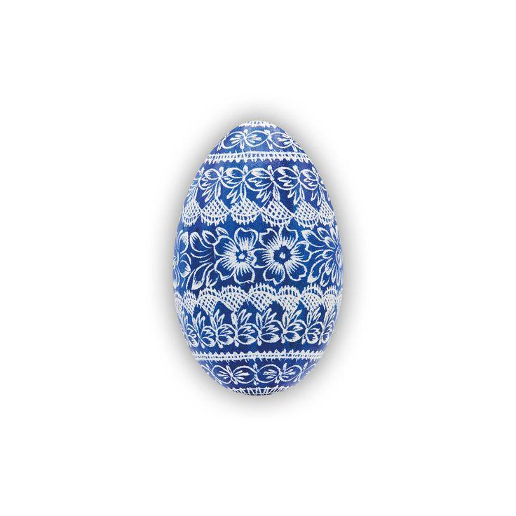 Velikonoční kraslice vyškrabovaná husí jednobarevná vzor hj-0110 – Borkovanské kraslice
