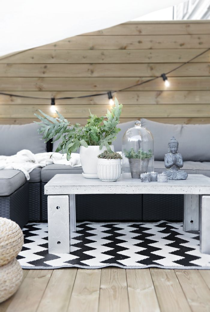 Concrete table_outdoors, Stylizimo home