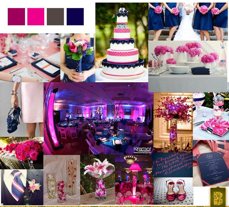 What Colours Not To Wear To A Wedding: 23 Best Images About Navy Blue & Fuschia Wedding On