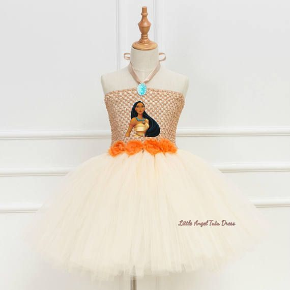Pocahontas Inspired Tutu Dress. Birthday Party. Pocahontas Tutu. Handmade Tutu Dress. Fancy Dress. Pocahontas Costume. ** Now Taking Christmas Orders ** With this beautifully made Pocahontas inspired tutu dress your daughter can go off into her own adventure. The top is made