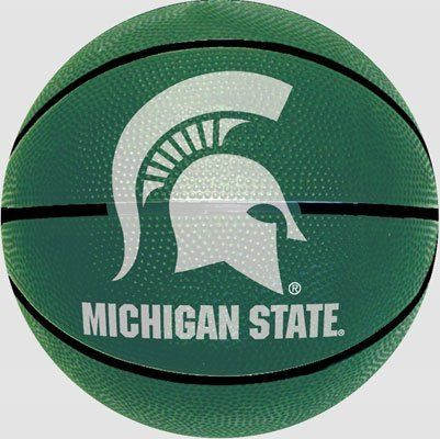 Michigan State Spartans 7.25 inch Mini Size Rubber Basketball by NCAA. $12.95. Have fun for hours with this Spartans 7.25 inch mini basketball. Perfect for Spartans fans of all ages. Dribble dunk and score like the actual Michigan State team! 7.25 inch diameter Alternating team colored panels with official logos or mascots High quality rubber