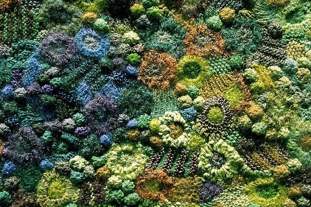 Crochet & knitting version of JAZZ - freeform ;-) just repinning my own work again