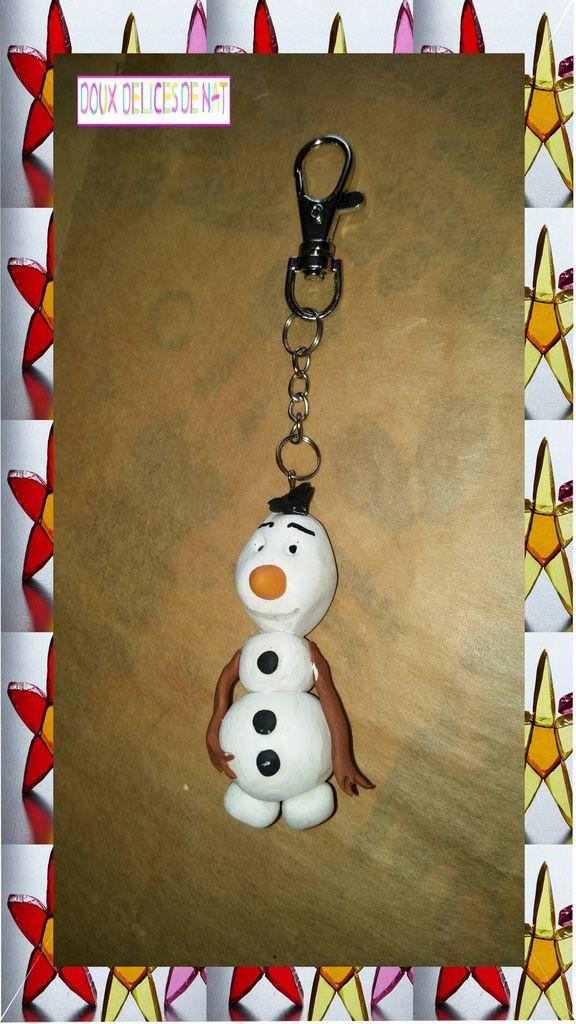 Porte-clé en fimo La reine des neiges ...