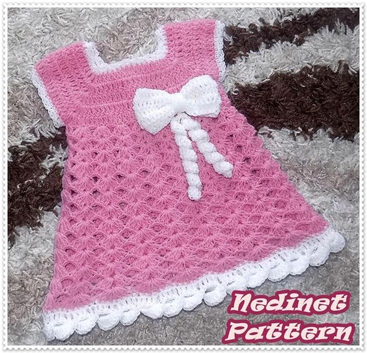 Crochet baby dress pattern 0-4 years | Craftsy