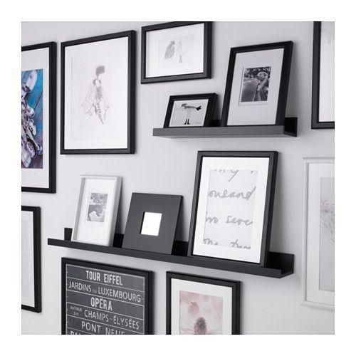 MOSSLANDA Tablette pour photos, noir 10 € MOSSLANDA Tablette pour photos - 115 cm - IKEA