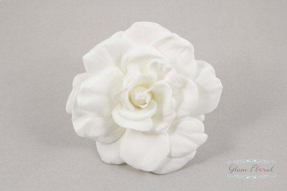White Gardenia Hair Clip Brooch Pin Corsage Fascinator Etsy Brooch Corsage Fascinator White Gardenia