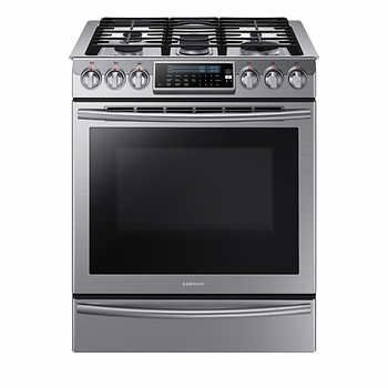 Samsung® 5.8 cu.ft Slide-in Gas Range with Intuitive Controls