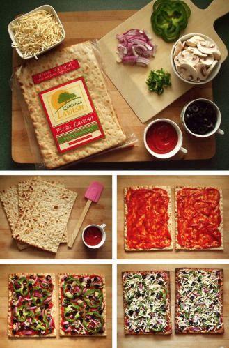 Lavash Pizza // Pizza na spodzie z chleba lavash