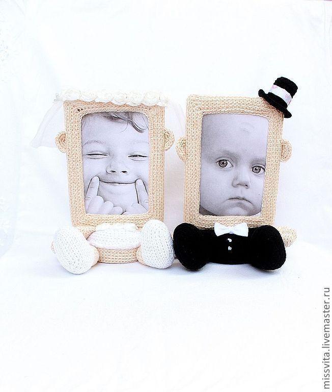 """Купить Фоторамочки """"Жених и невеста"""" - свадьба, подарок на свадьбу, подарок на годовщину, рамка для фото"""