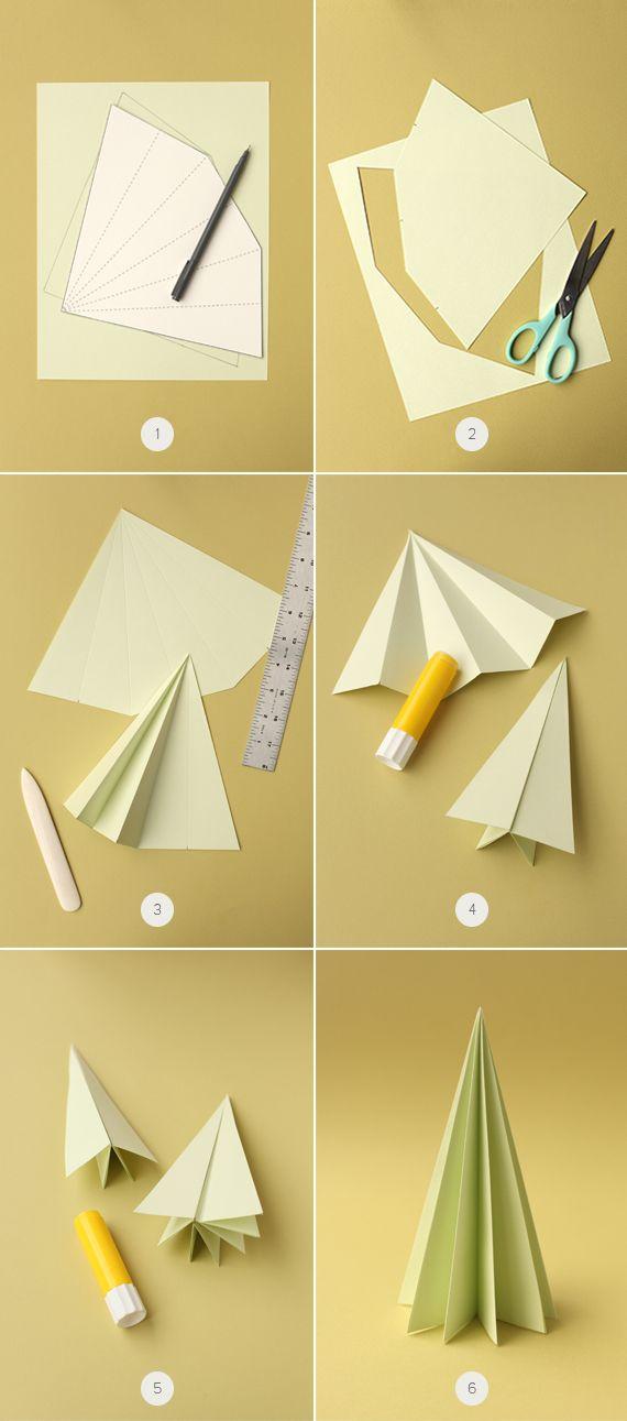 Accordion Paper Trees