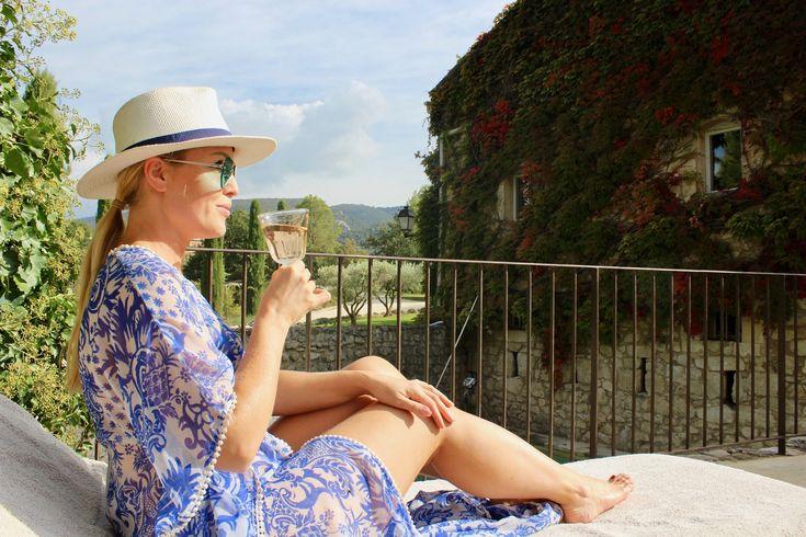 chic woman rose pool drinks