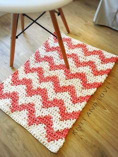 El tutorial que no te puedes perder! Alfombra de trapillo tapestry Knit And Love www.knitandlove.com