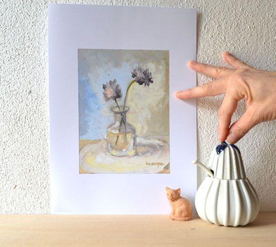 Stampa Fiori Viola, decorazione per cucina di Paint Live Love Italy! su DaWanda.com