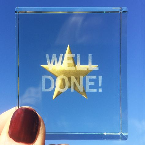 This gold star says it all: Well Done on the past three years of hard work, Well Done for keeping going until the end, Well Done for trying your best and for making it to this day. Help make a graduation even more memorable with this wonderful gold star token. #Graduation #Gift #Love #Memories #Token #Spaceform #London
