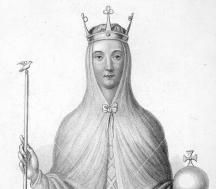 Adeliza of Louvain (c.1103 – 23 April 1151) was queen consort of the Kingdom of England from 1121 to 1135, the second wife of Henry I. Despite her limited involvement in politics, Adeliza seems to have played an active role as a patron of the arts and literature, and was influential in fostering the rise of French poetry in the English court. In 1138, three years after Henry I's death, Adeliza married William d'Aubigny, 1st Earl of Arundel.