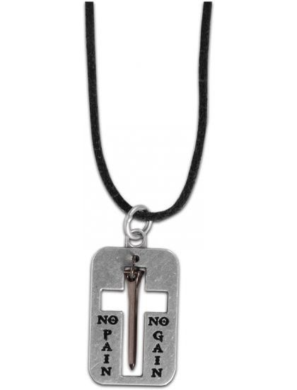No Pain No Gain - Nail Cross - Jesus Necklace