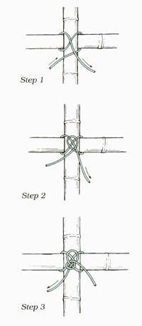 Tuto de noeud pour les treillis en bambous.