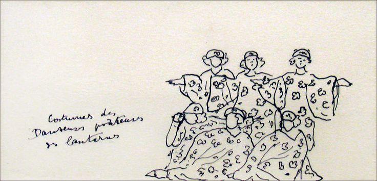 Costumes dHenri Matisse pour le chant du rossignol (les Ballets russes, Opéra)