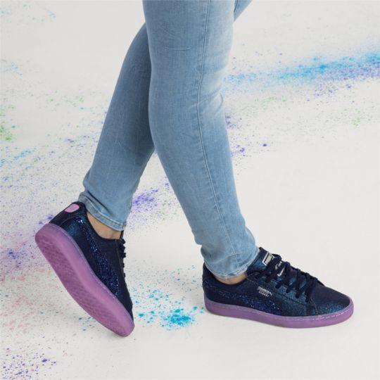Puma x Sophia Webster Grey Basket Glitter Princess Sneaker