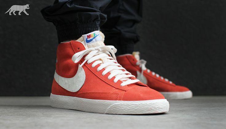 Nike Blazer Mid Premium Vintage QS *Multicolor Logos* (Team Orange / Sail) #nike #blazer #asphaltgold #basketball #fashion #urban
