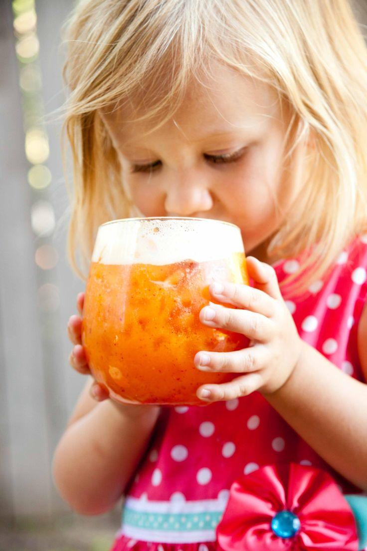 Coconut peach lemonade - just add vodka or rum!