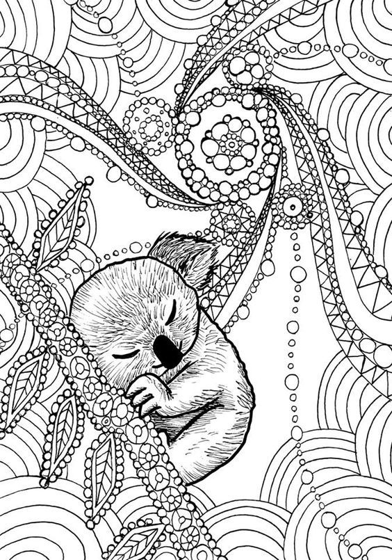 animal dreamers art therapy coloring book by daniel de sosa - Art Therapy Coloring Pages Animals